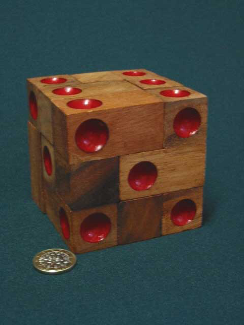 Double 6 Dice, red