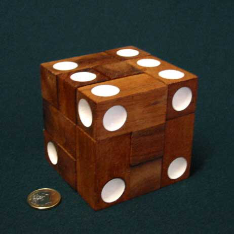 Double 6 Dice, white